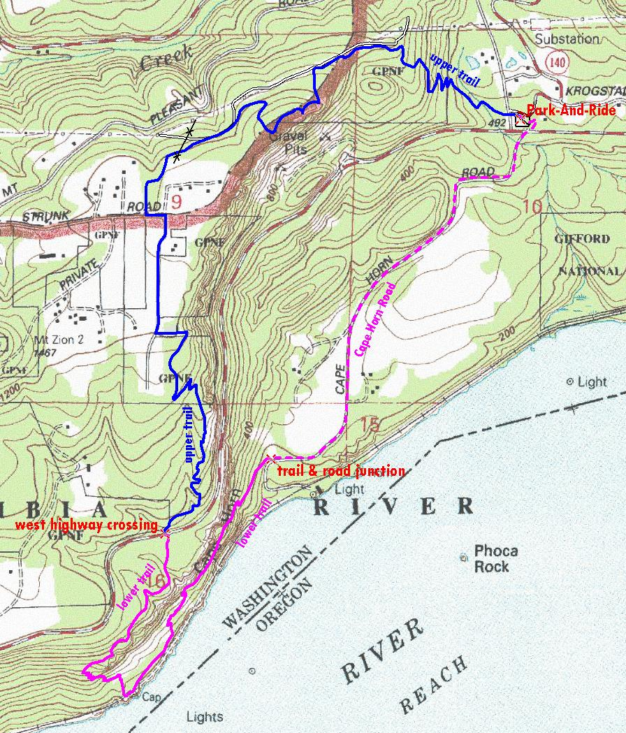 Cape Horn via Skamania Transit